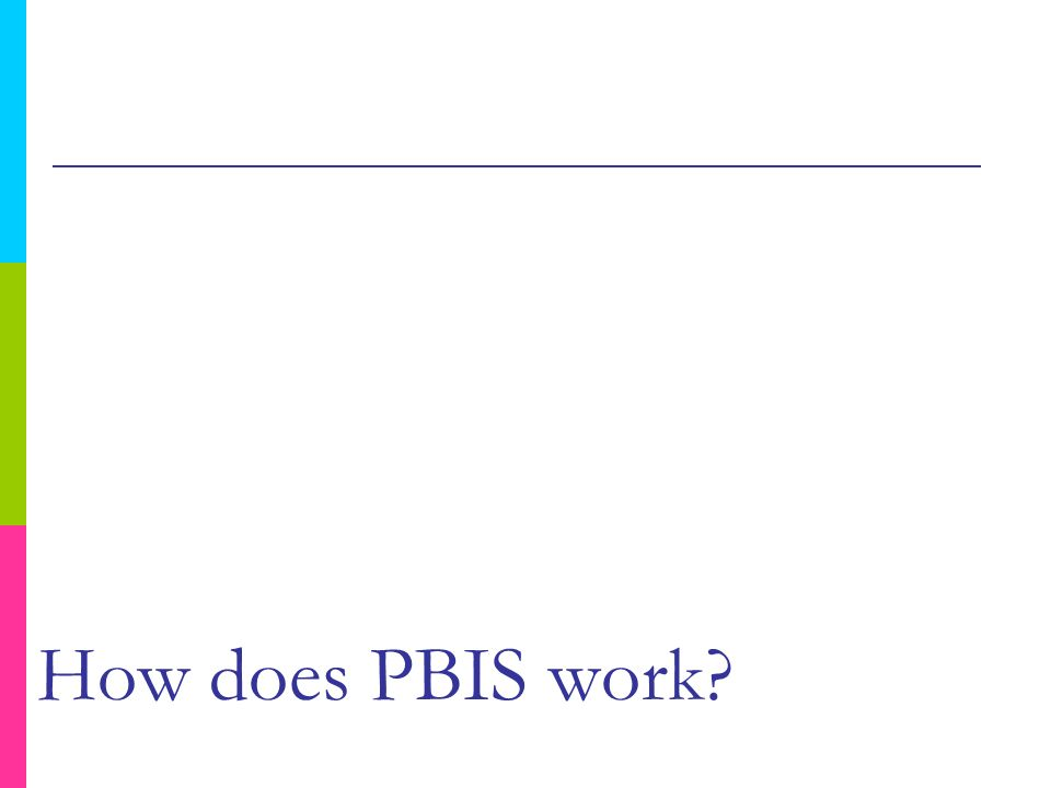 How does PBIS work?