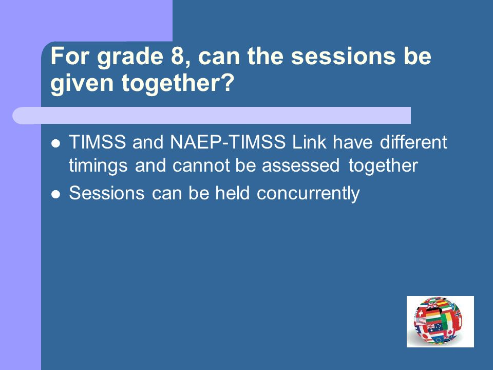 For grade 4, can the sessions be given together.