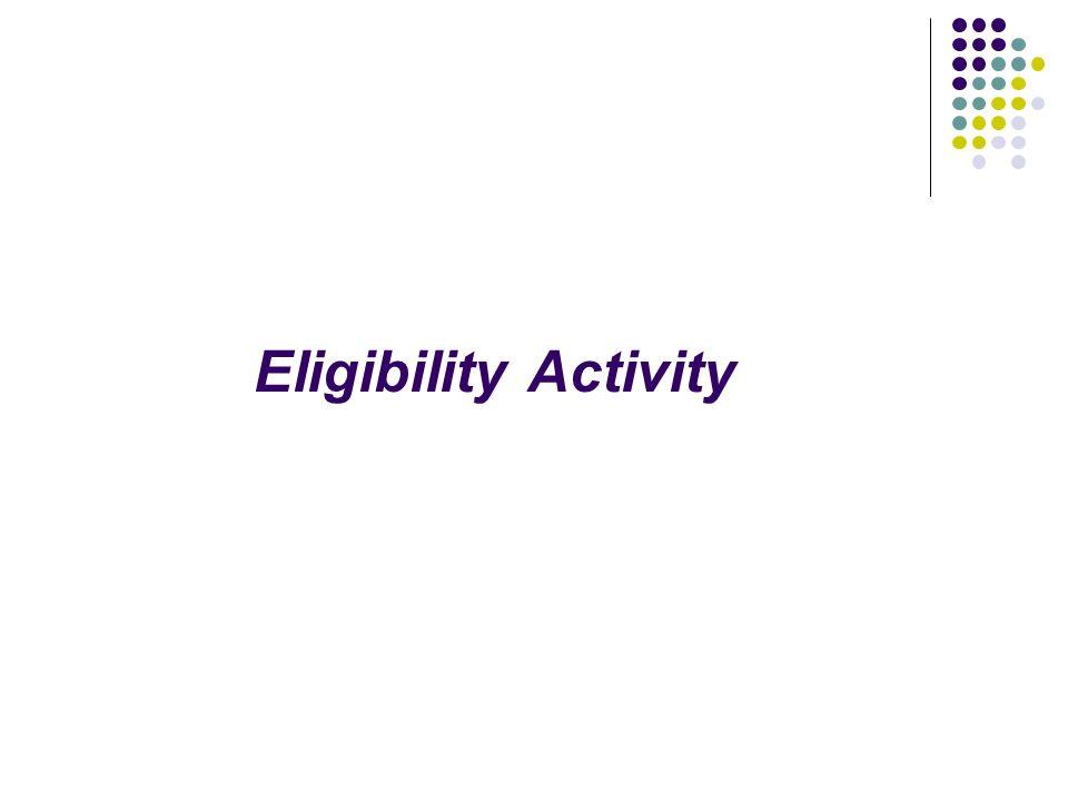 Eligibility Activity