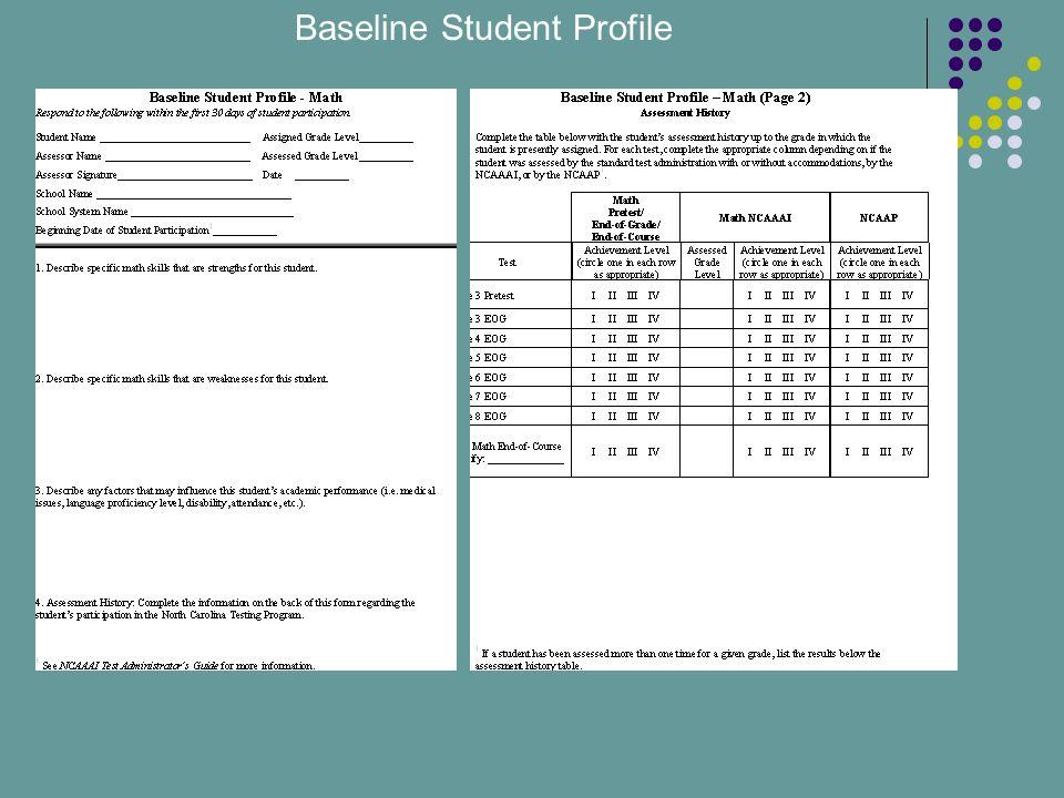 Baseline Student Profile