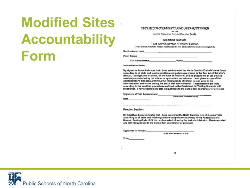 Modified Sites – Accountability Form