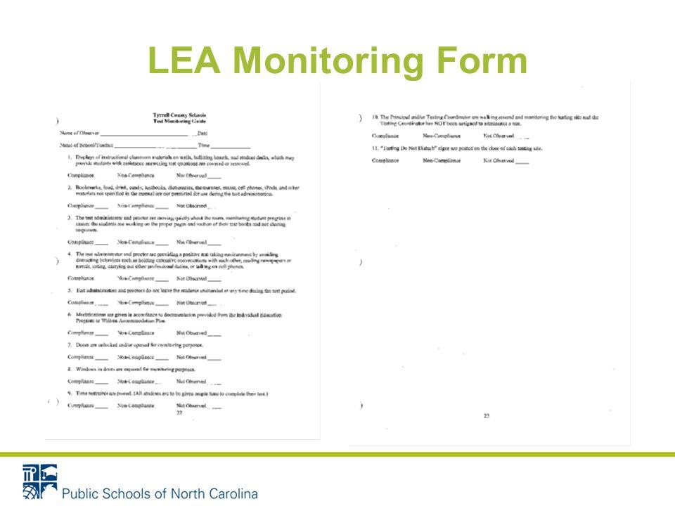 LEA Monitoring Form