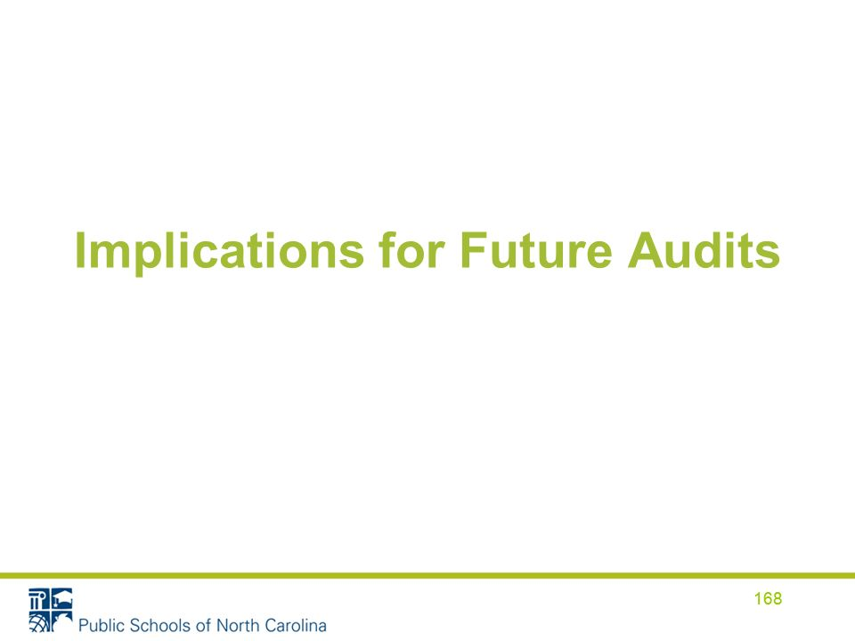 Implications for Future Audits 168