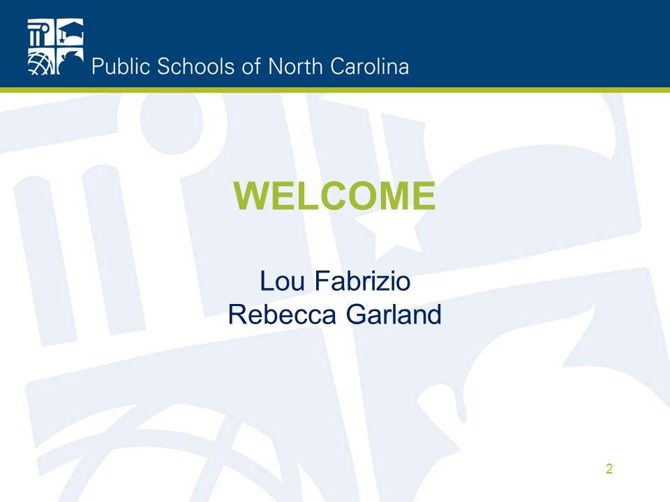 WELCOME Lou Fabrizio Rebecca Garland 2