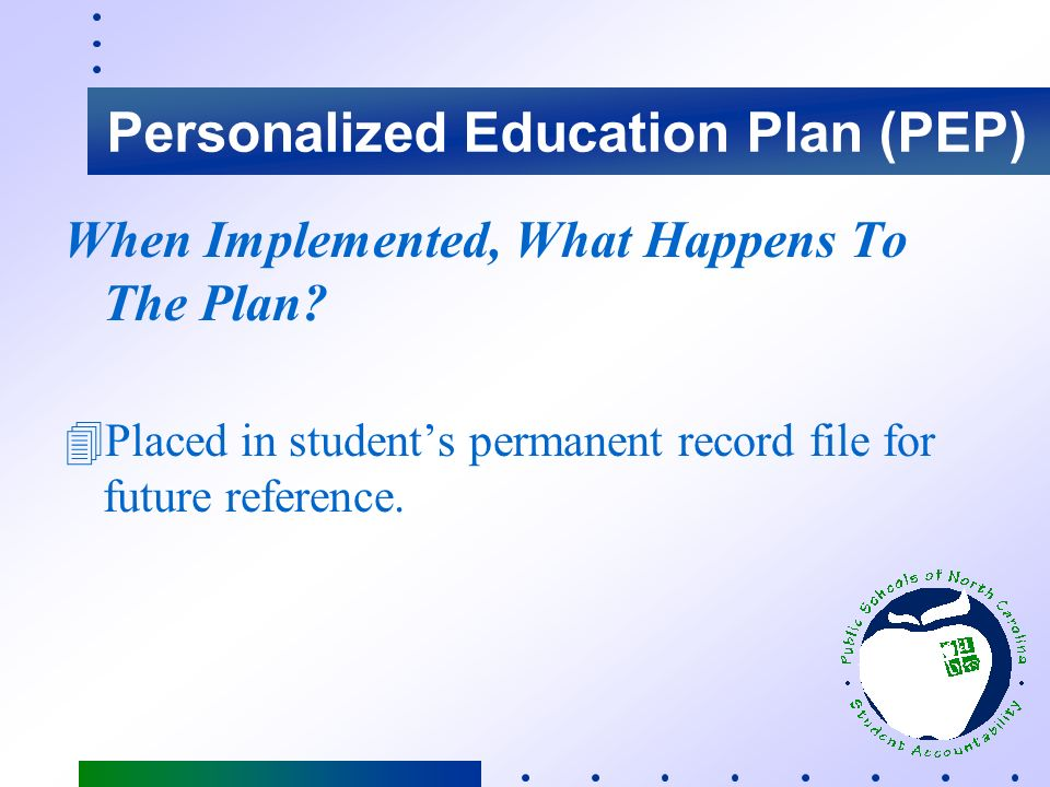 Why Is The Plan Important. 4Provides targeted academic support/assistance to students who need it.