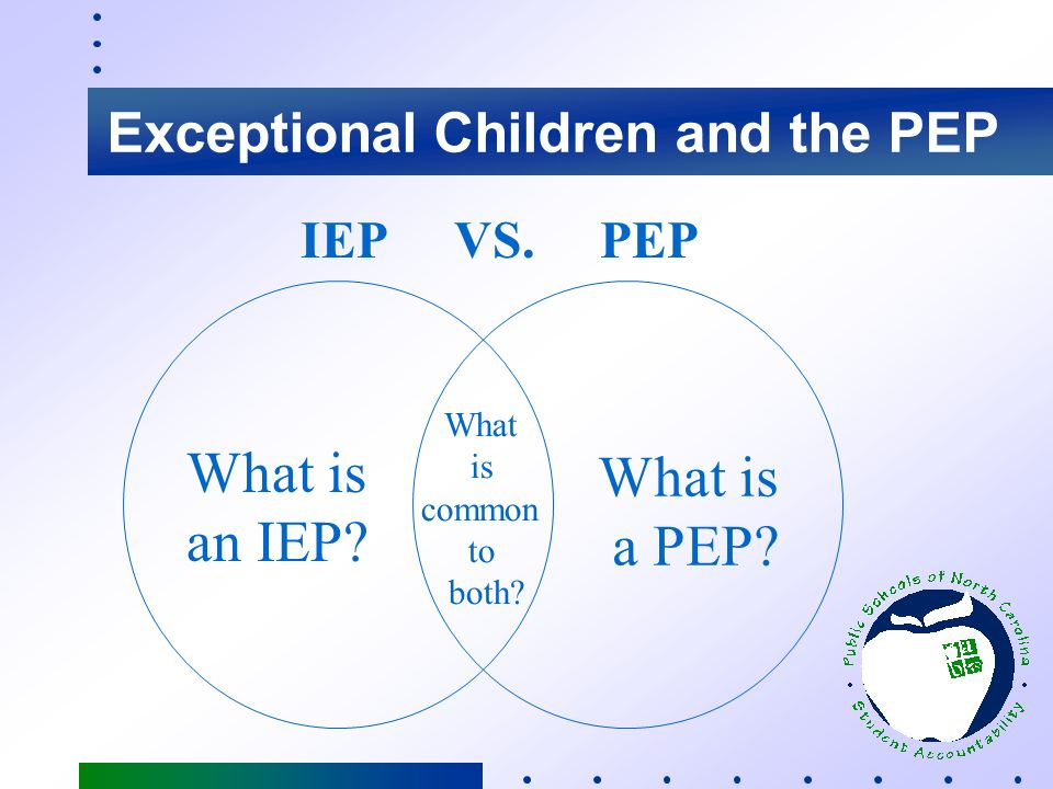 Exceptional Children and the PEP