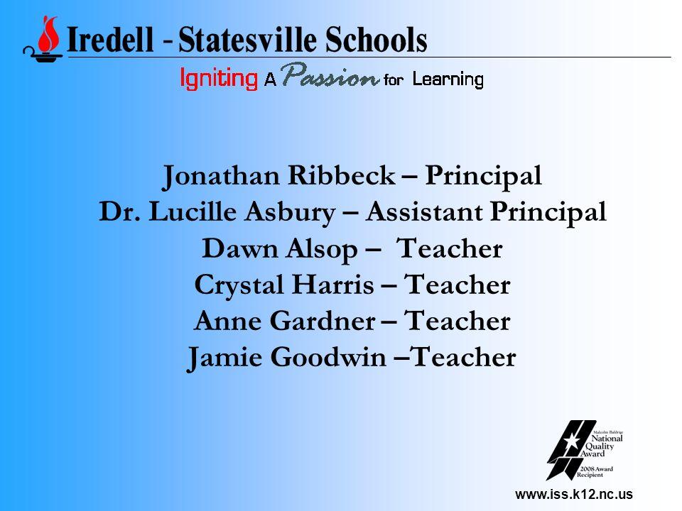 www.iss.k12.nc.us Jonathan Ribbeck – Principal Dr. Lucille Asbury – Assistant Principal Dawn Alsop – Teacher Crystal Harris – Teacher Anne Gardner – T