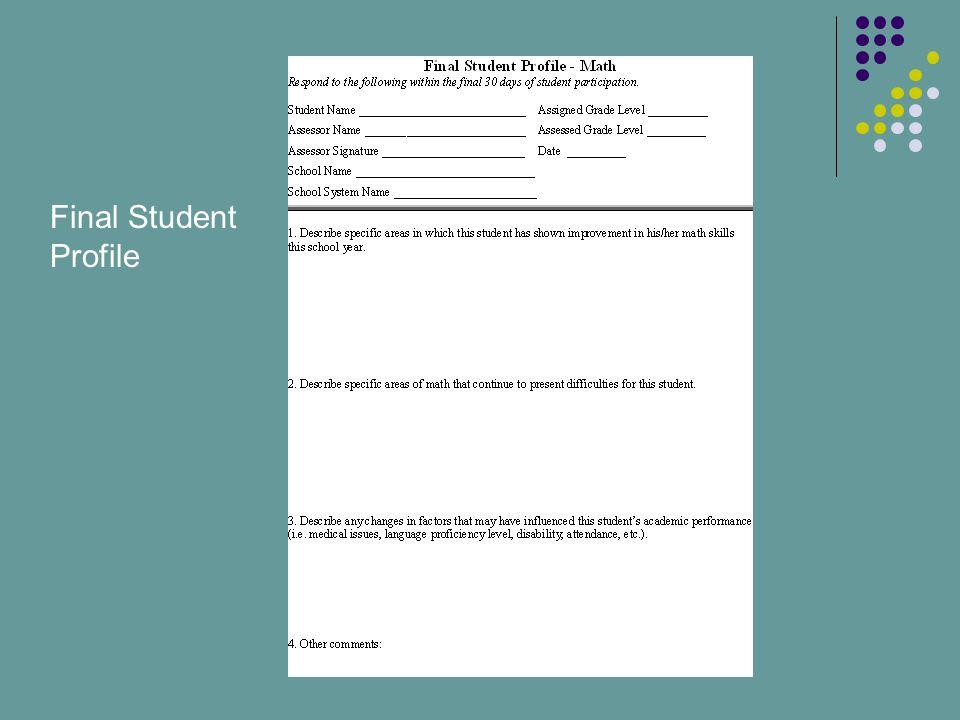 Final Student Profile