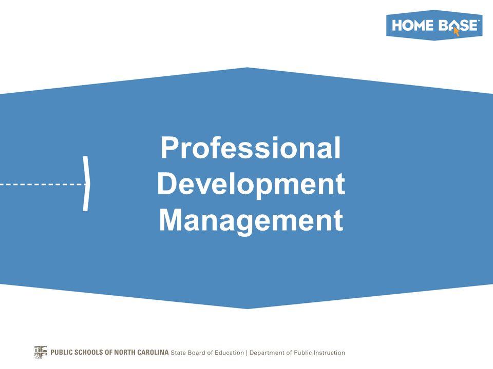 Professional Development Management