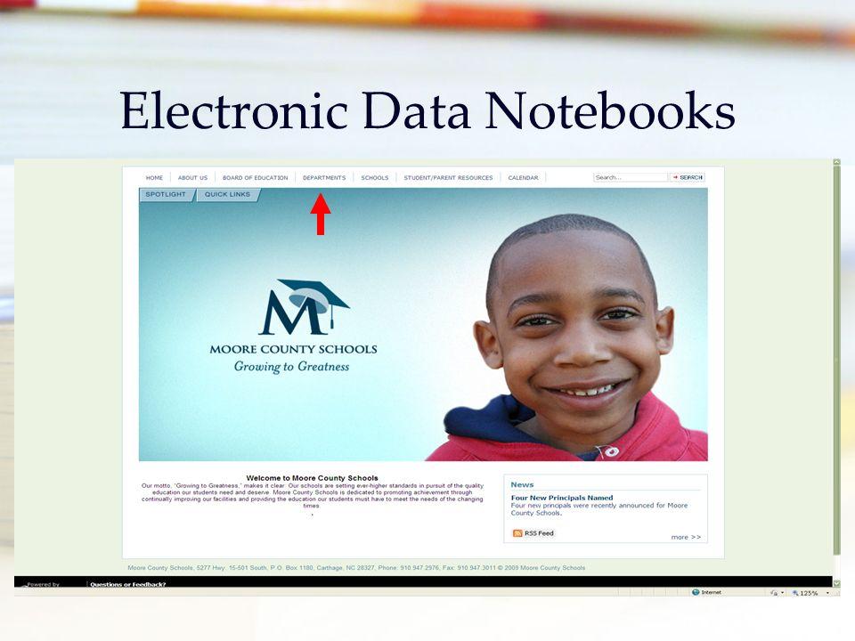Electronic Data Notebooks