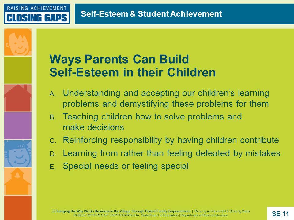 Self-Esteem & Student Achievement Changing the Way We Do Business in the Village through Parent/Family Empowerment | Raising Achievement & Closing Gap