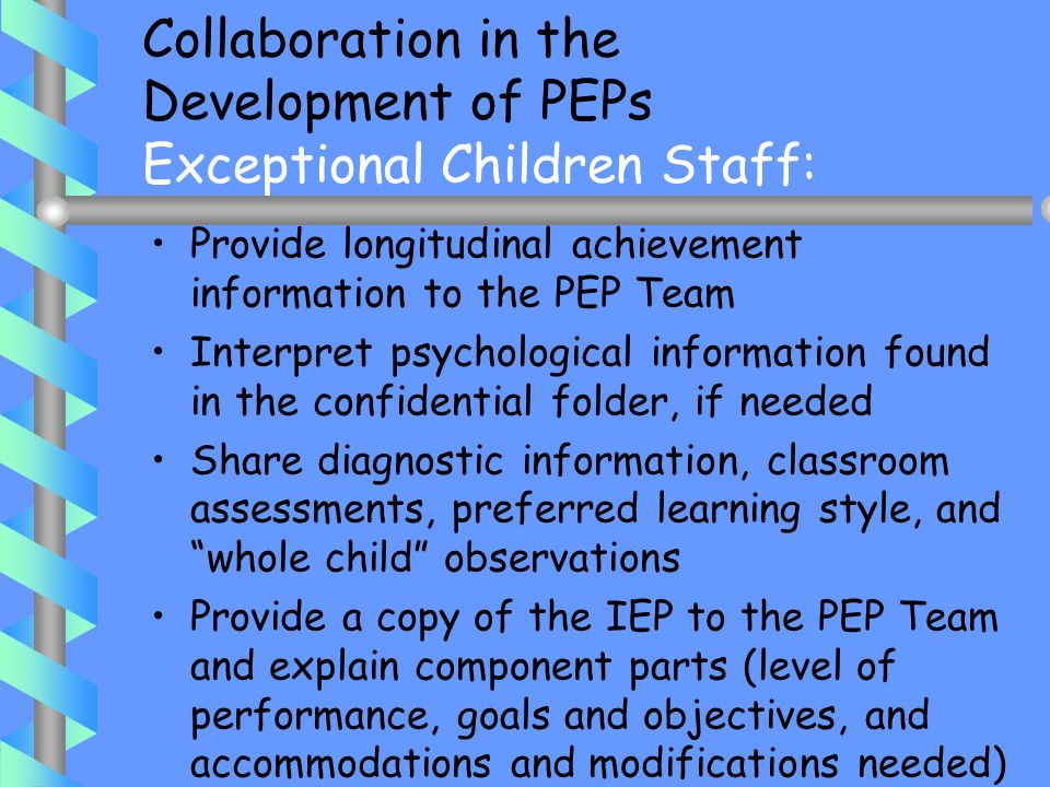 All attachments to the IEP would be considered part of the IEP and subject to the federal law and regulations governing the IEP, including due process