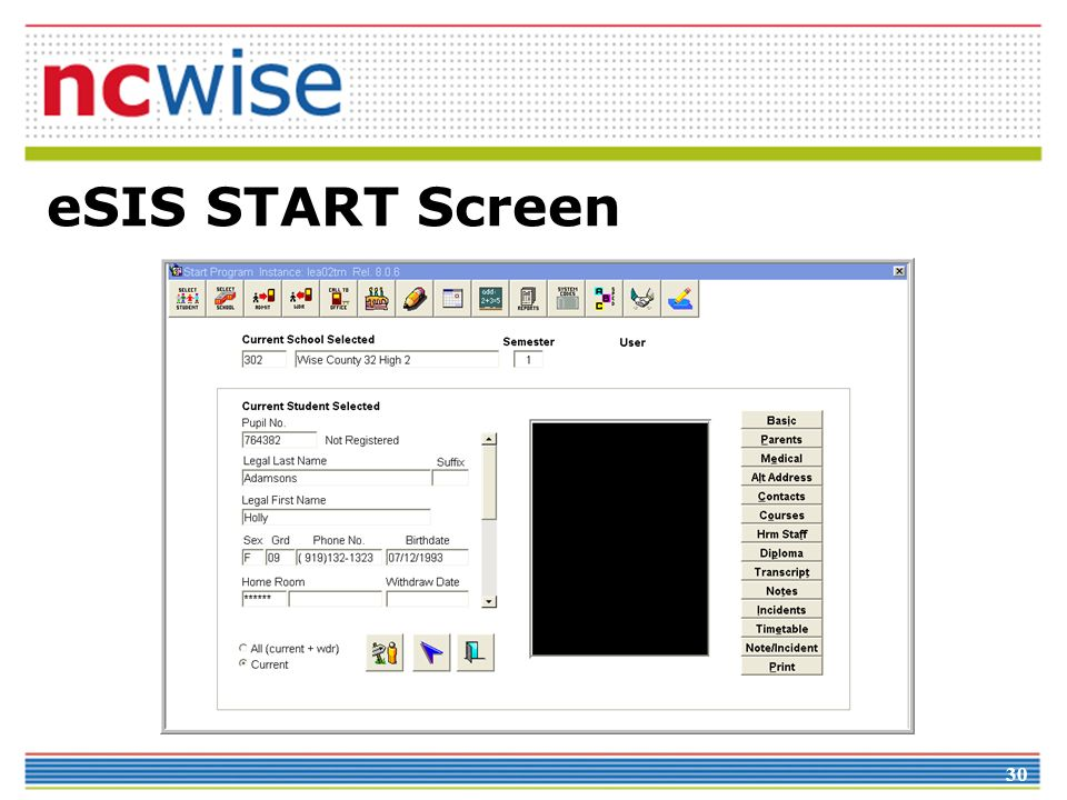 30 eSIS START Screen