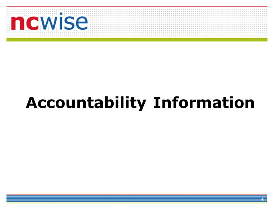 4 Accountability Information
