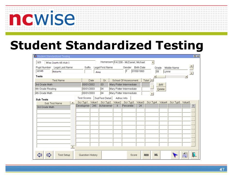 47 Student Standardized Testing