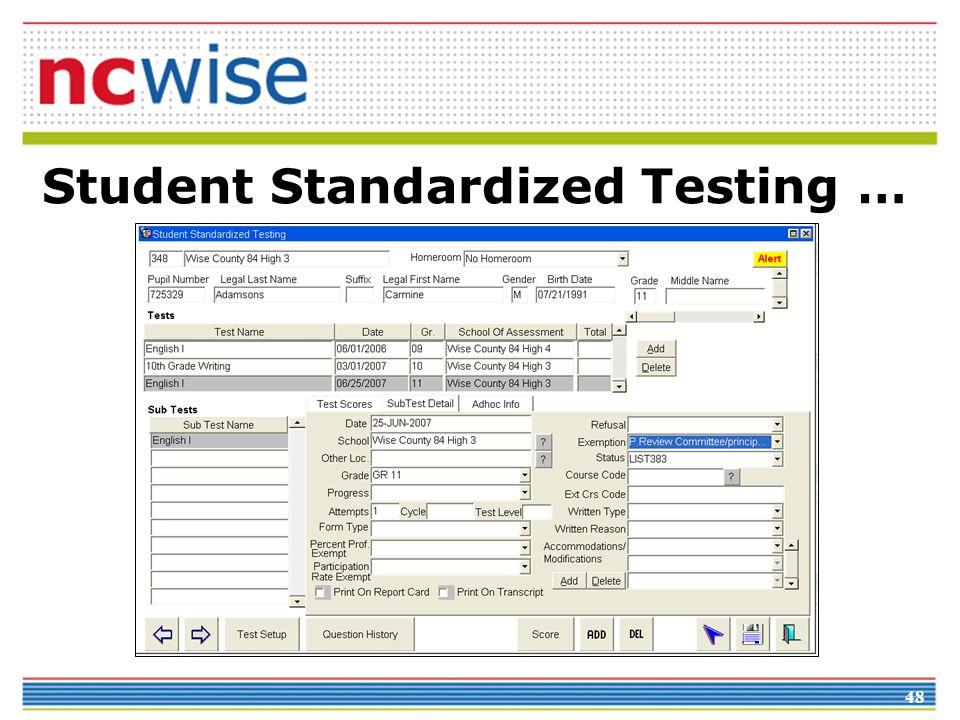 48 Student Standardized Testing …