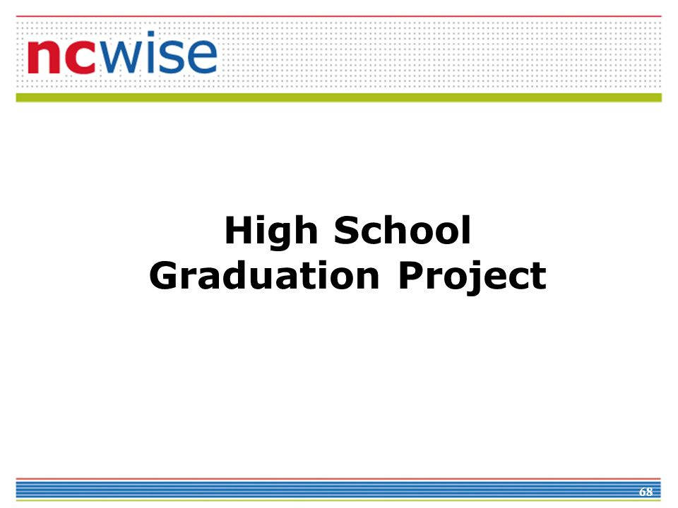 68 High School Graduation Project