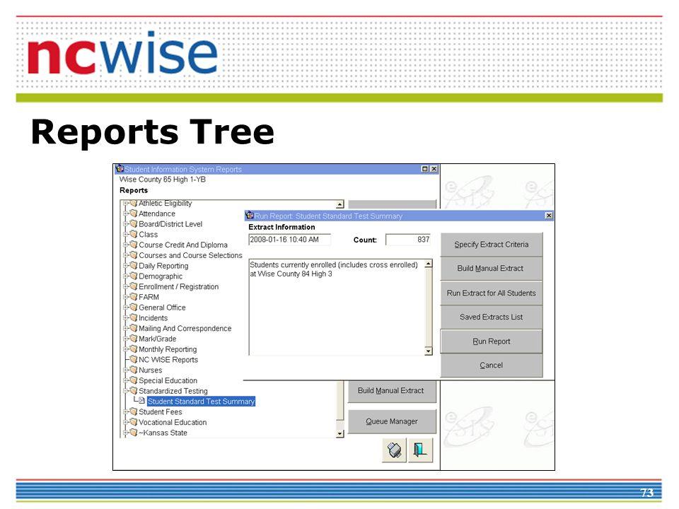 73 Reports Tree