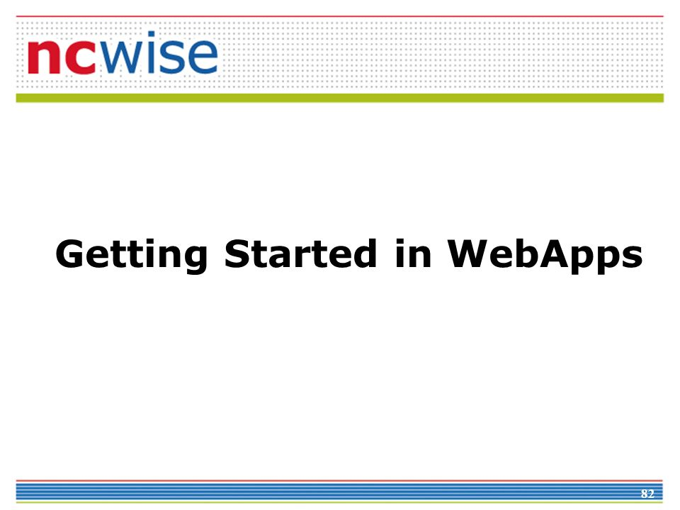 82 Getting Started in WebApps