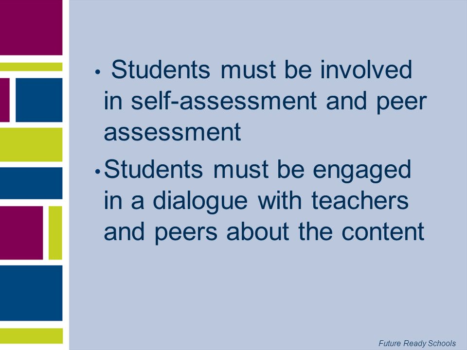 Future Ready Schools Effects of Evaluative Feedback
