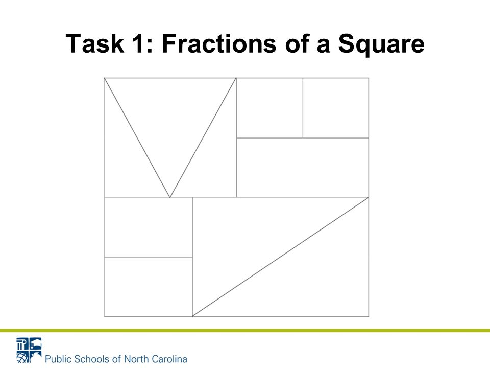 Task 1: Fractions of a Square