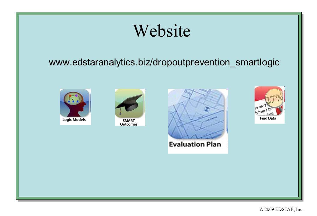 © 2009 EDSTAR, Inc. Website www.edstaranalytics.biz/dropoutprevention_smartlogic