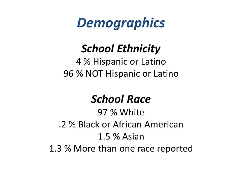 Demographics contd Student Enrollment: Kinder: 351 st Grade: 292 nd Grade: 32 3 rd Grade: 35 4 th Grade: 455 th Grade: 34 6 th Grade: 45 7 th Grade: 48 8 th Grade: 53 Total: 356Attendance: >95% Title I School 55 – 60% Free and Reduced Meals Composites for 2010-11: Reading 87.4% -- Math 96.7% -- Science 97.7% -- Overall 93.1%