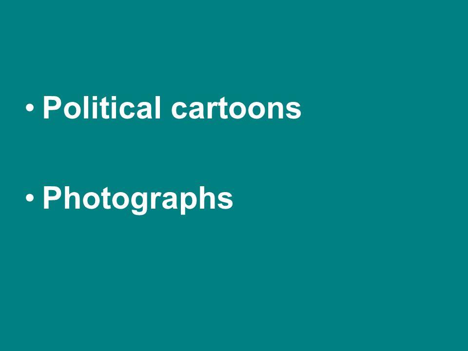 Political cartoons Photographs