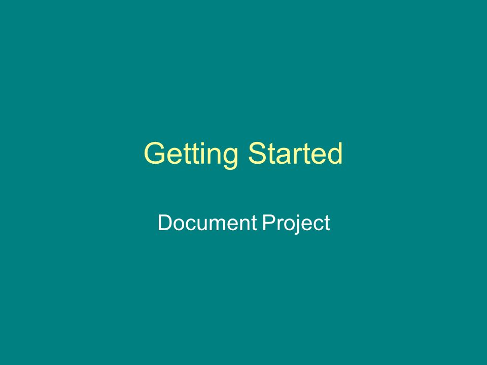 Getting Started Document Project
