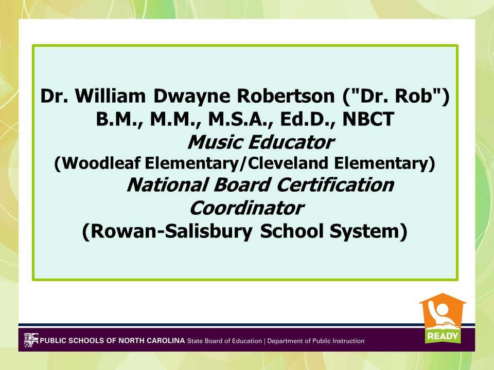 Dr. William Dwayne Robertson ( Dr.