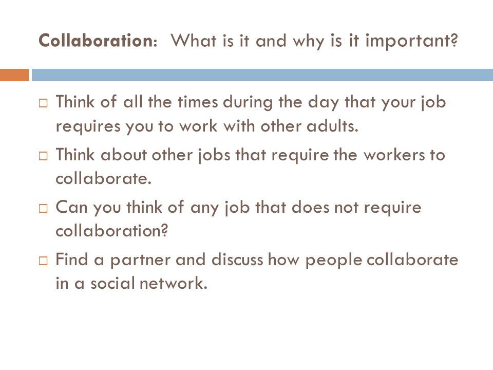 Collaboration: What is it and why is it important .