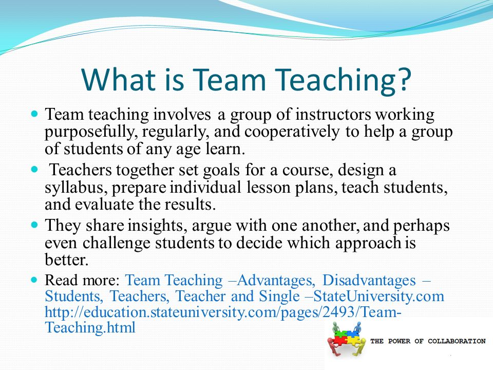 What is Team Teaching.