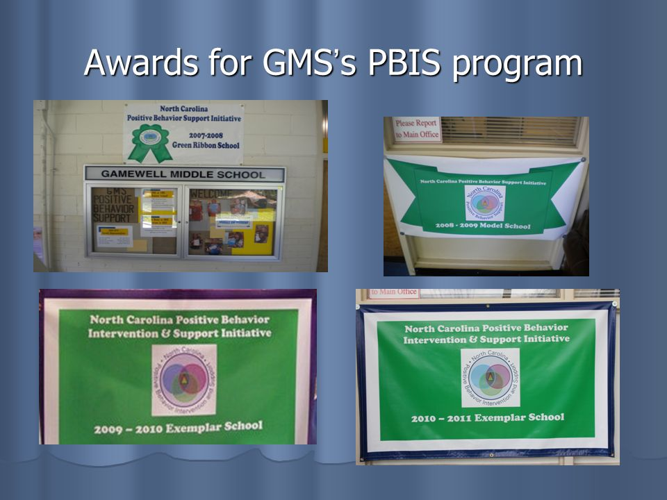 Awards for GMSs PBIS program