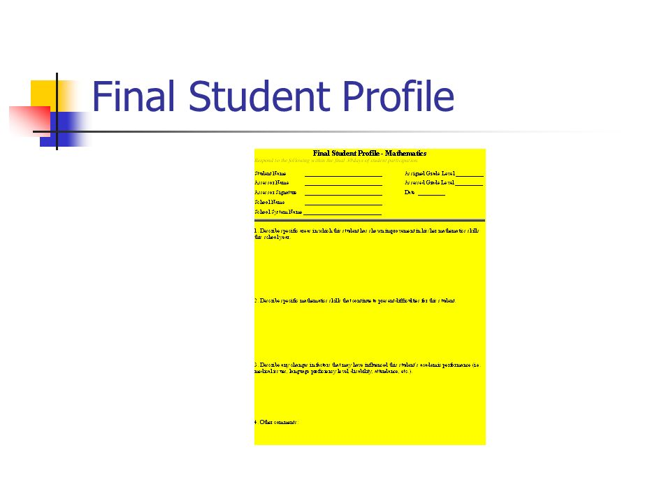 Final Student Profile