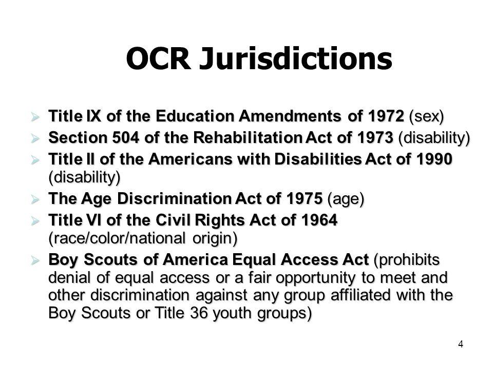 15 Nondiscrimination Policy 34 C.F.R.