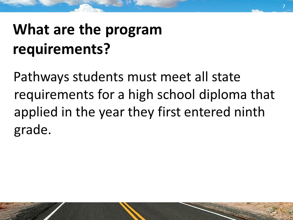 What are the program requirements.