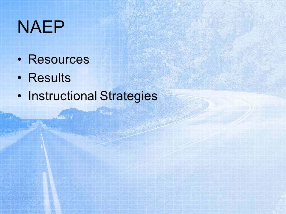 NAEP Resources Results Instructional Strategies
