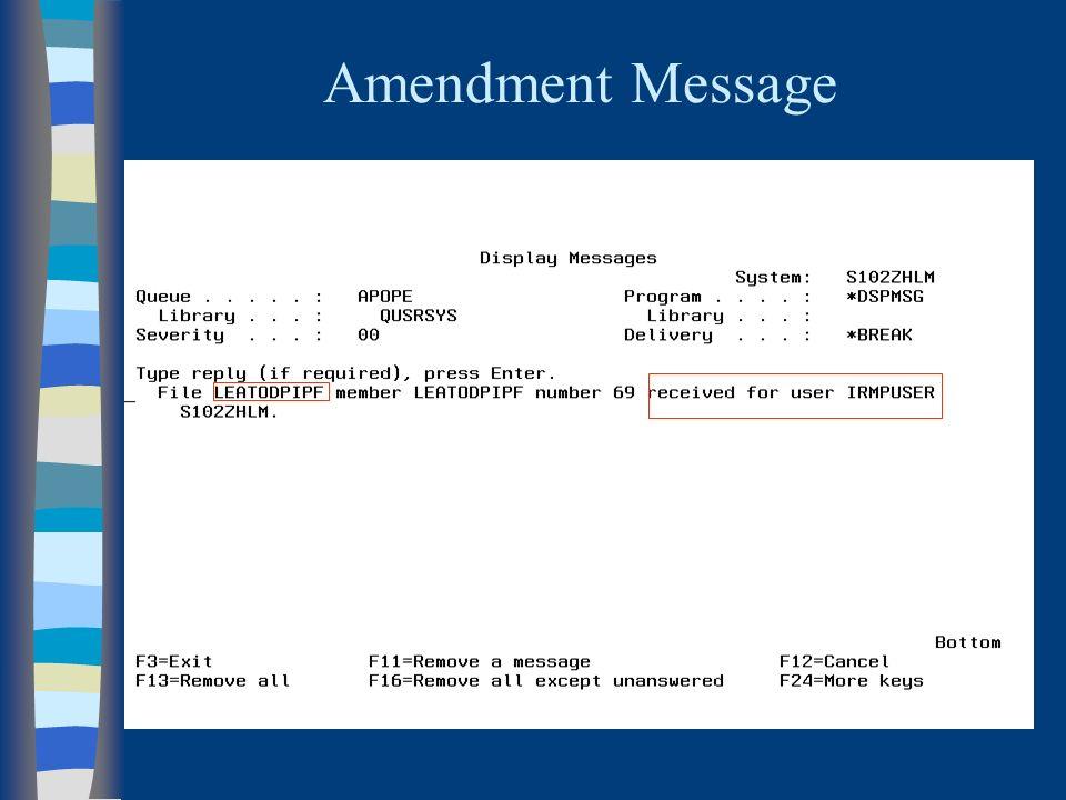 Amendment Message