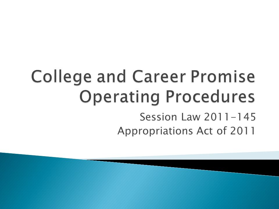 Session Law 2011-145 Appropriations Act of 2011