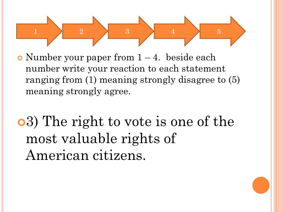Number your paper from 1 – 4.