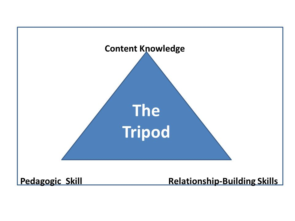 Content Knowledge Pedagogic Skill Relationship-Building Skills The Tripod