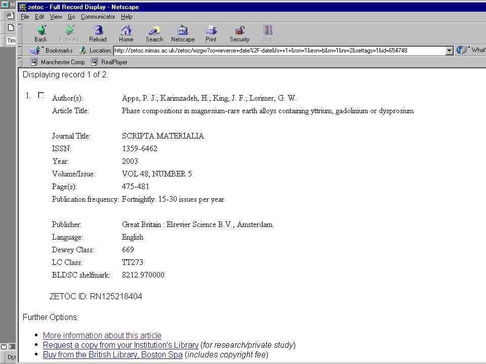 2003-10-29NISO OpenURL Workshop10