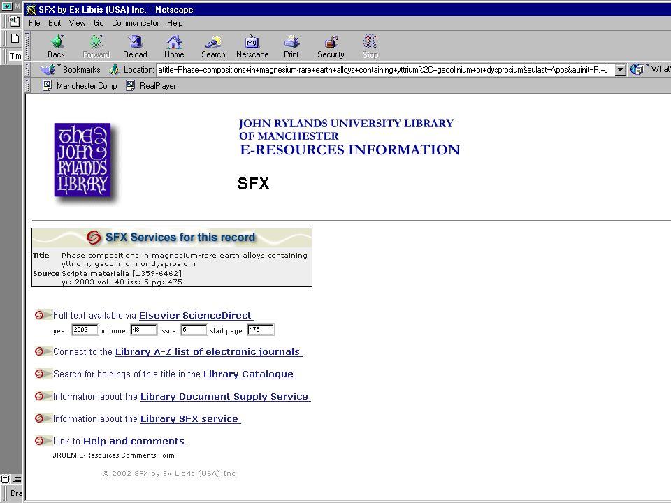 2003-10-29NISO OpenURL Workshop11
