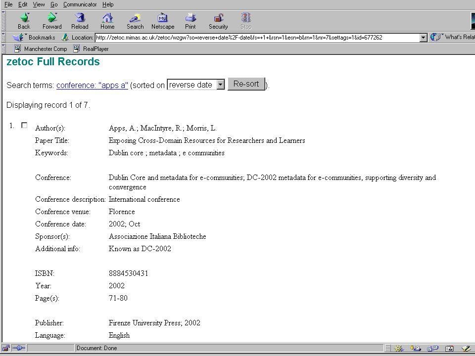2003-10-29NISO OpenURL Workshop27