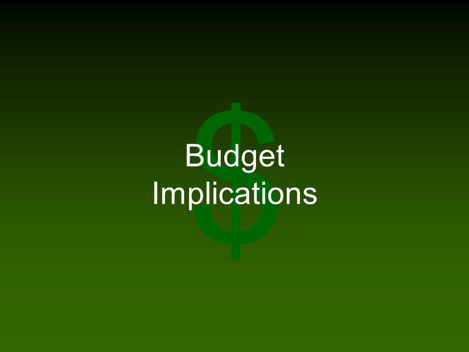 $ Budget Implications