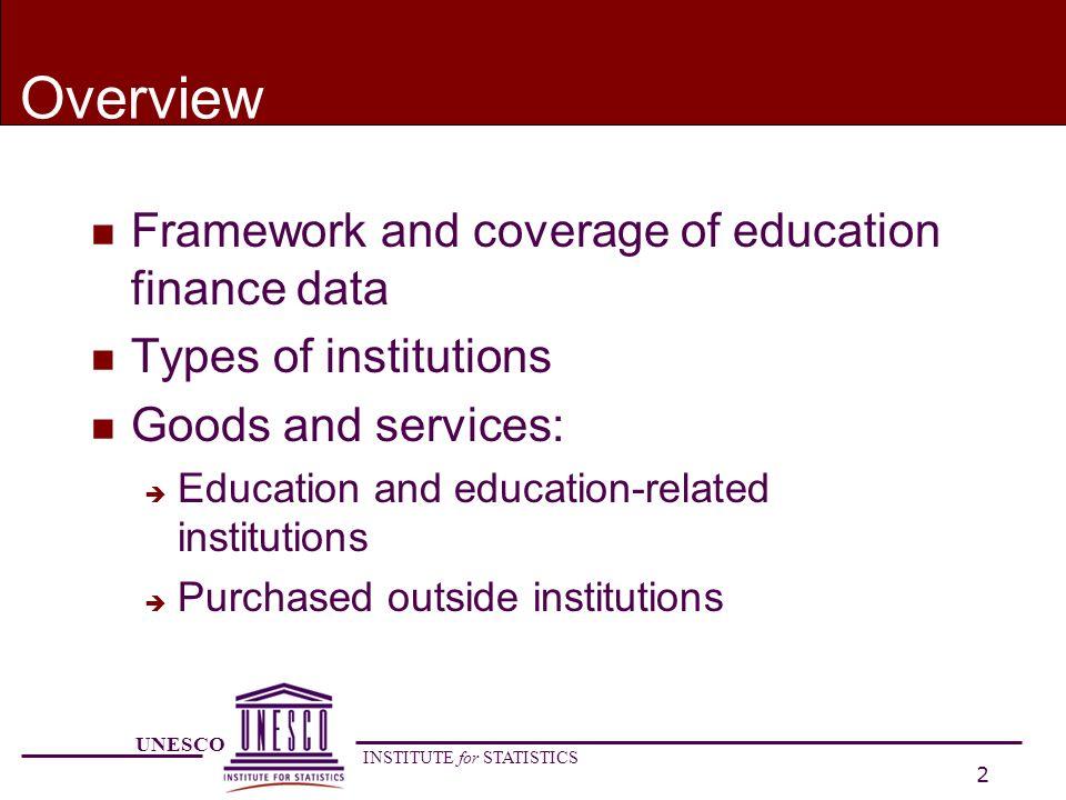 UNESCO INSTITUTE for STATISTICS 13 Private educational institutions n What is a private institution.