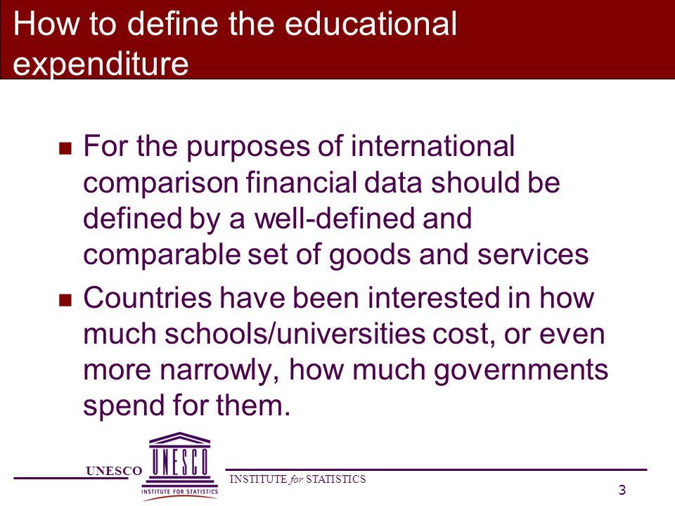 UNESCO INSTITUTE for STATISTICS 14 How to classify private institutions.