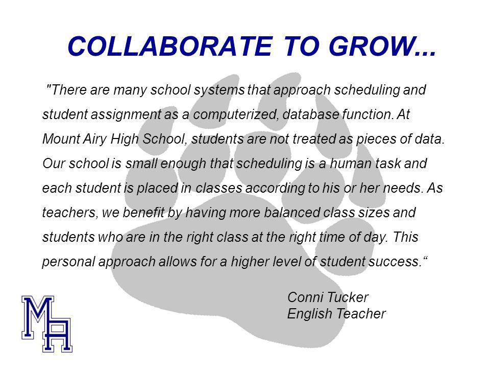 COLLABORATE TO GROW...