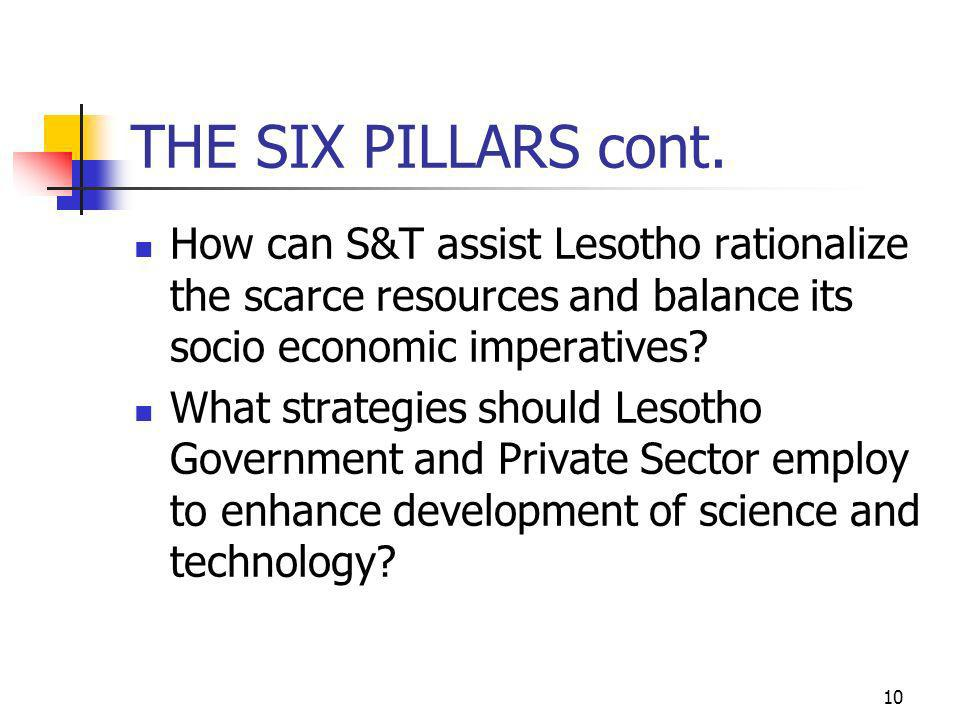 10 THE SIX PILLARS cont.