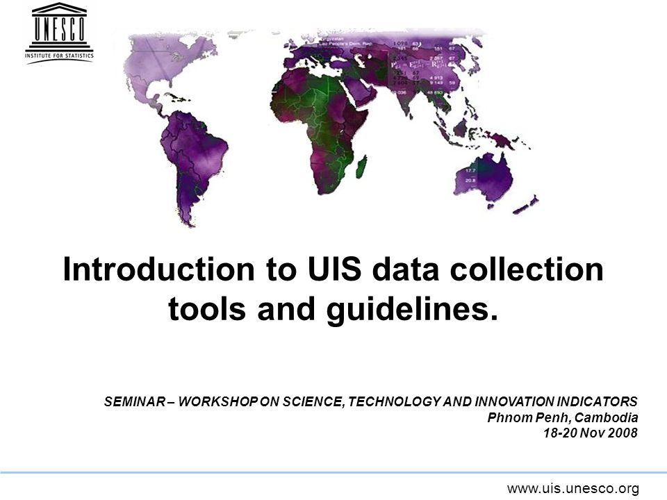 www.uis.unesco.org S&T Questionnaire – Section 2 Human Resources in R&D Definitions in the Instruction Manual